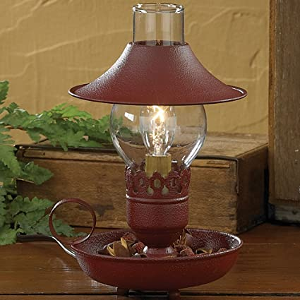 Park designs red chamberstick lamp with shade
