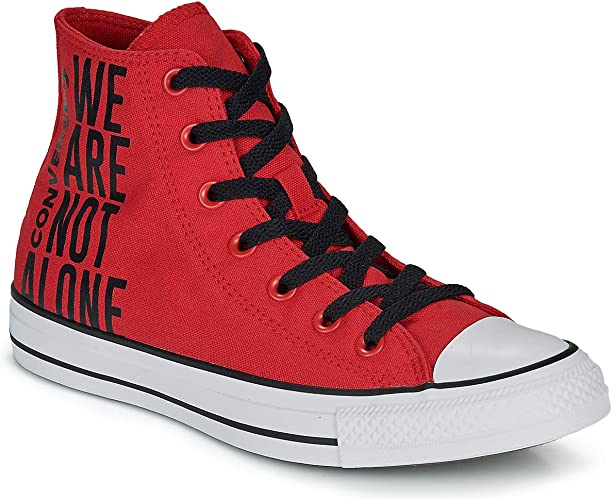 chaussure converse montante rouge