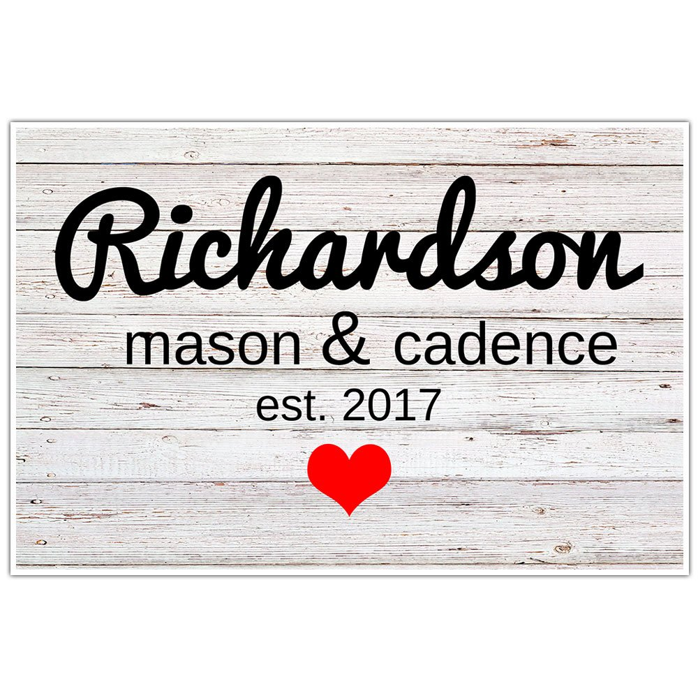 Personalized Name Wall Art Decor Heart | Custom Name Gifts ...