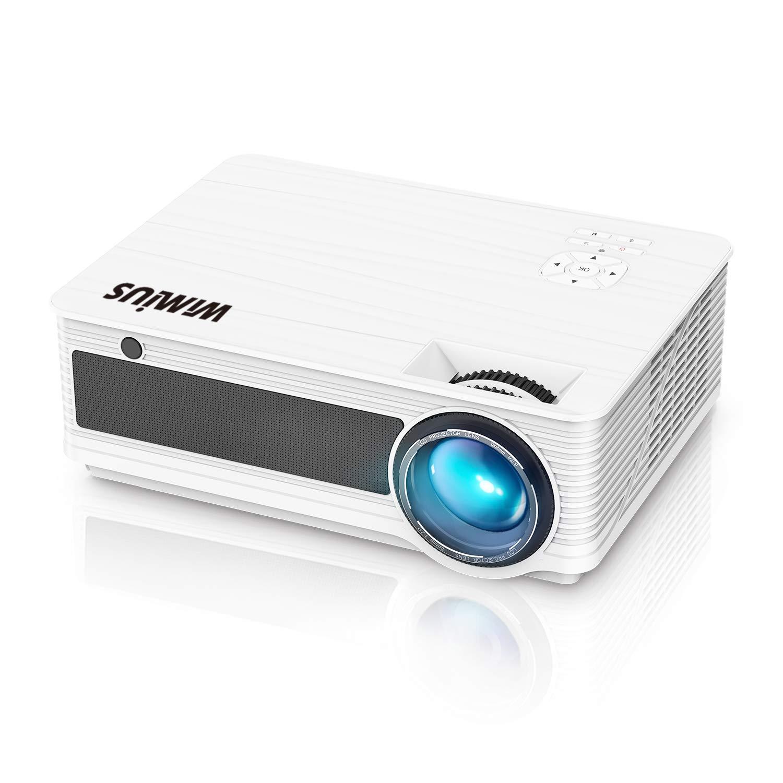 【2019改良新版】WiMiUS プロジェクター 4200lm 1080PフルHD対応 ホームプロジェクター 二つ内蔵HIFIスピーカー 200インチ大画面 ホームシアター HDMIケーブル付属 HDMI/USB/VGA/AV/パソコン/スマホ/タブレット/ゲーム機など接続可能 3年保証 B07GZJXQ8S ホワイト