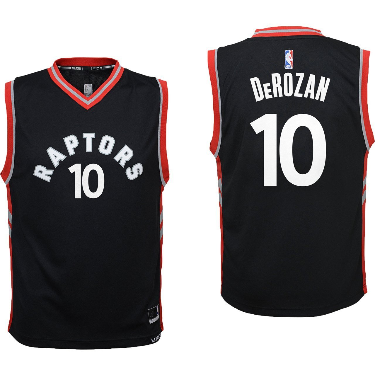 6ba17ecb086 Amazon.com   Outerstuff DeMar DeRozan Toronto Raptors  10 Black Youth  Alterante Replica Jersey   Sports   Outdoors