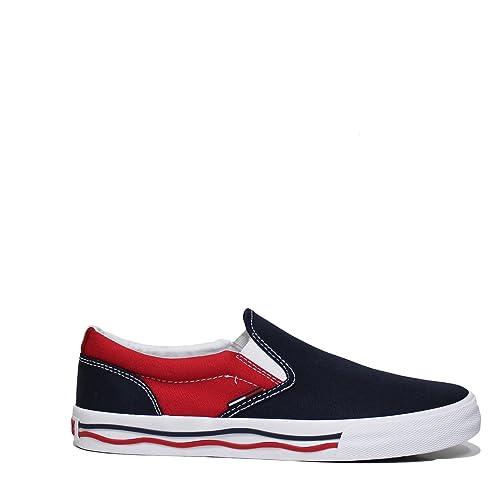 e903777cd9dbb Tommy Hilfiger EM0EM00071 Slip-On Man Blue 43  Amazon.co.uk  Shoes ...