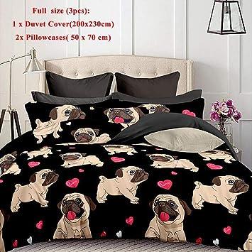 Juego de ropa de cama para perros,juego de fundas nórdicas de cachorro de perro