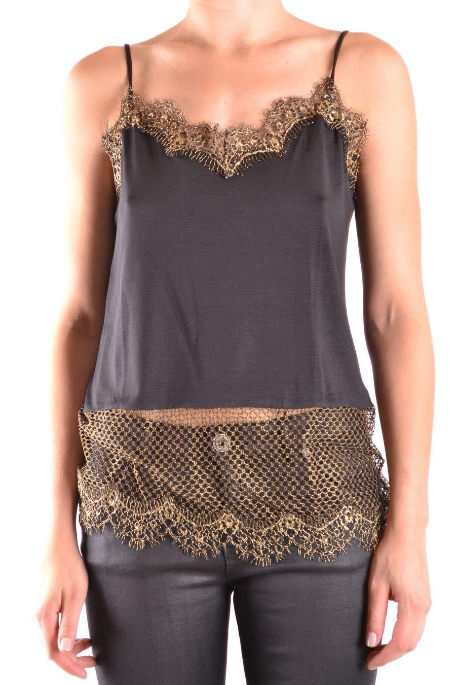 Pinko Women's PELEOZ99 Black gold Polyamide Top