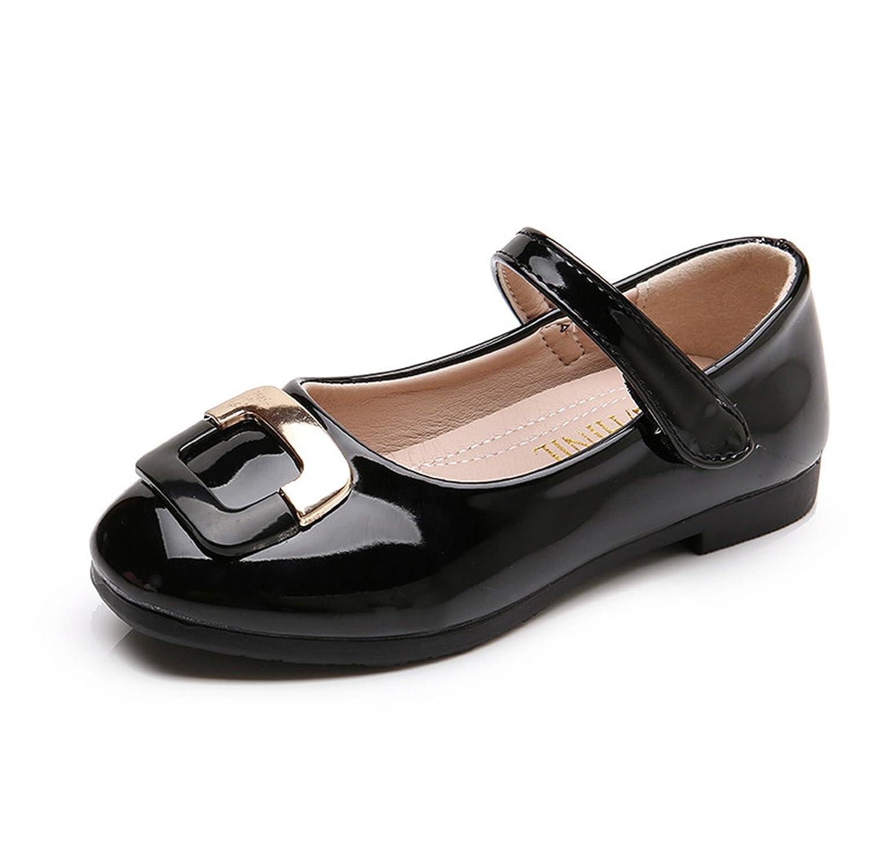 Baqijian Girls Leather Shoes Kids Casual Shoes Girls Princess Children Shoes Flats Party Wedding School Dress Kid