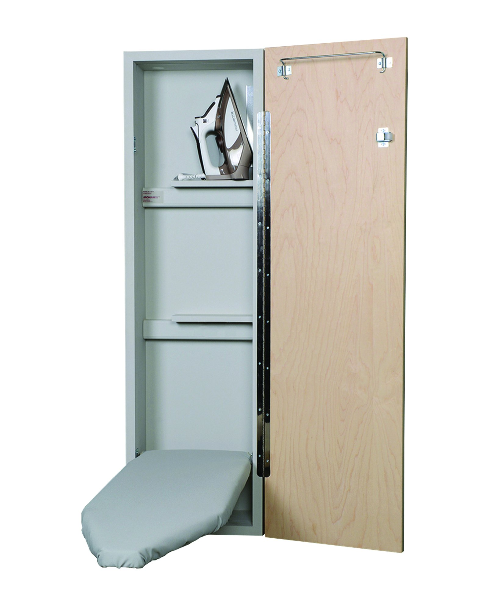 Iron-A-Way Deluxe Non-Electric Ironing Center, Raised Oak Panel Door
