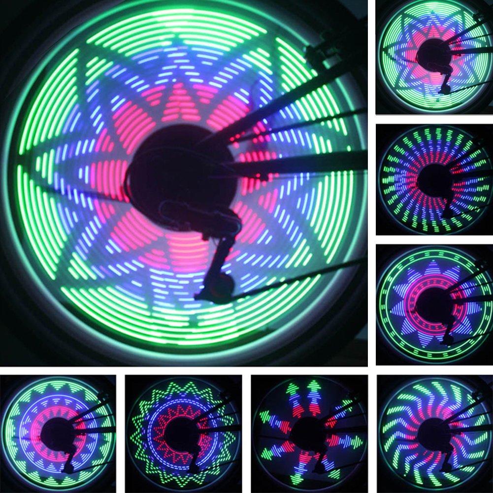 Meiyiu Bicycle Wheel Light 32 Patterns 36 LED Flash Spoke Tire Waterproof Light for Road MTB Mountain Bike by Meiyiu (Image #2)