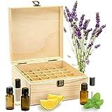 エッセンシャルオイル収納ボックス 自然木製 エッセンシャルオイルオイル 収納 ボックス 香水収納ケース アロマオイル収納ボックス 25本用