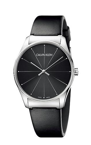 Calvin Klein Reloj Analógico para Mujer de Cuarzo con Correa en Cuero K4D211CY: Amazon.es: Relojes