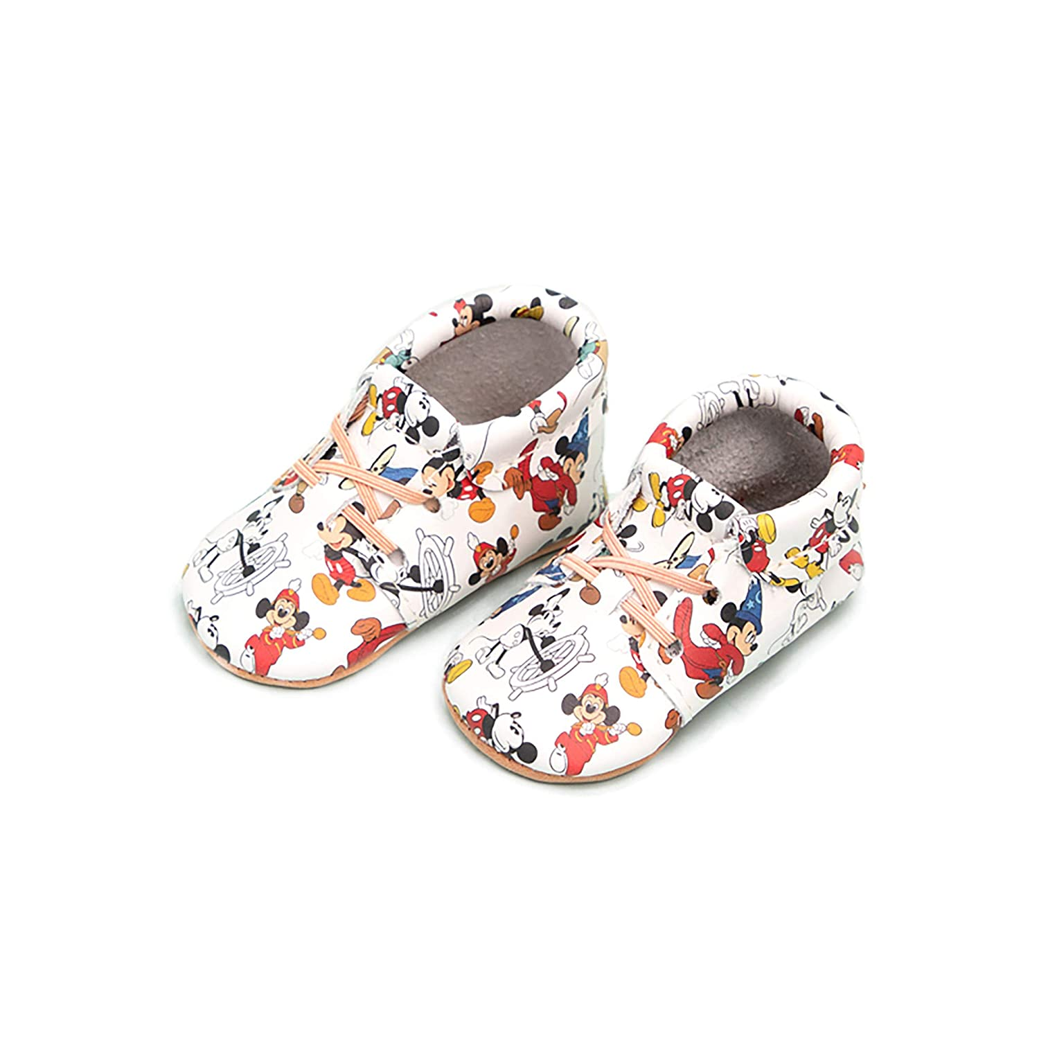 Disney Baby Girl Boy Shoes Freshly Picked Infant Sizes 1-5 Soft Sole Leather Oxford Moccasins