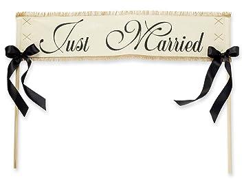 Amazon.com: Mud Pie 'Just Married' Wedding Banner: Arts, Crafts ...