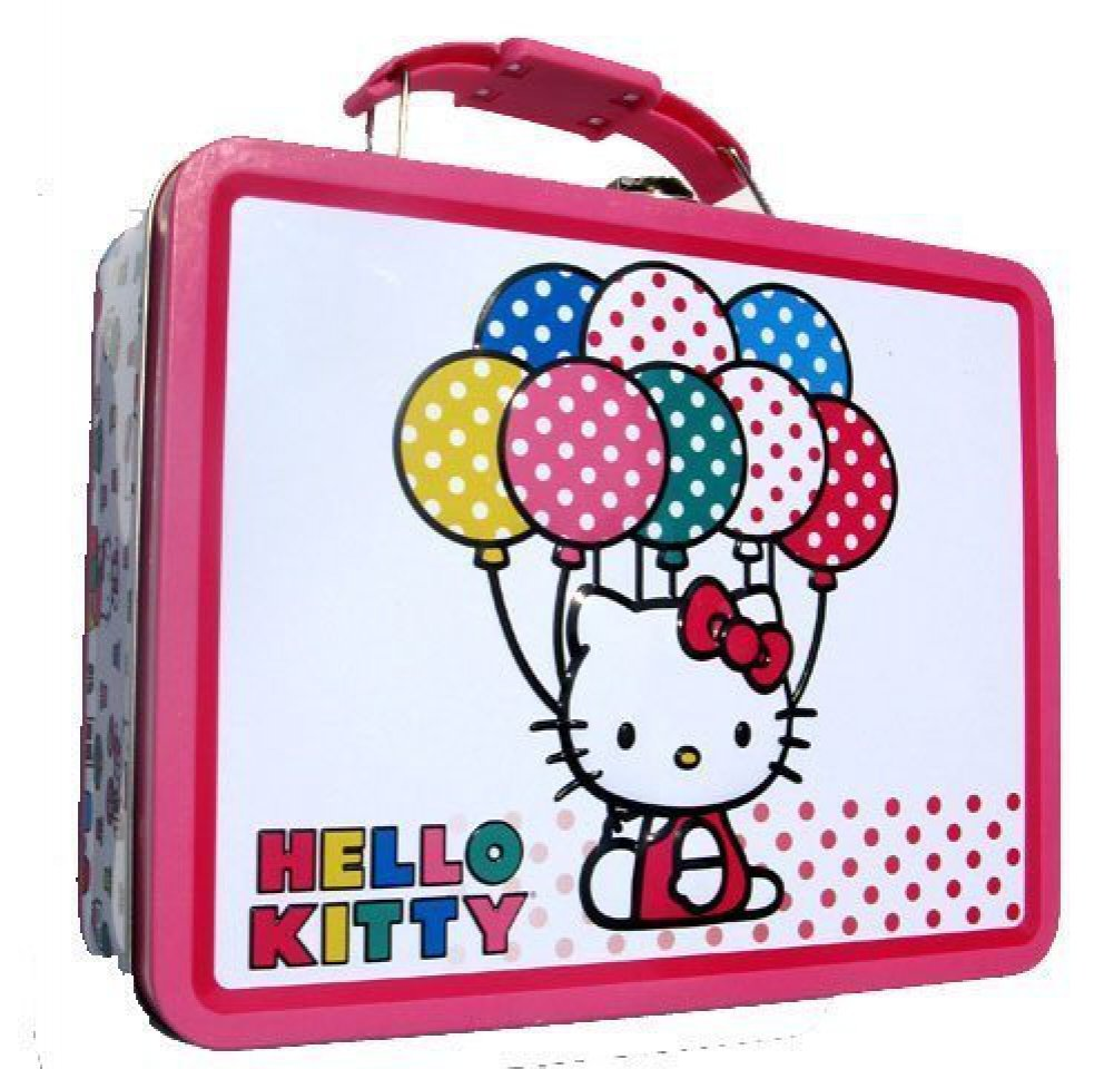 e1599fadc Buy Hello Kitty Balloons Metal Girls Tin Lunch Box Online at Low Prices in  India - Amazon.in