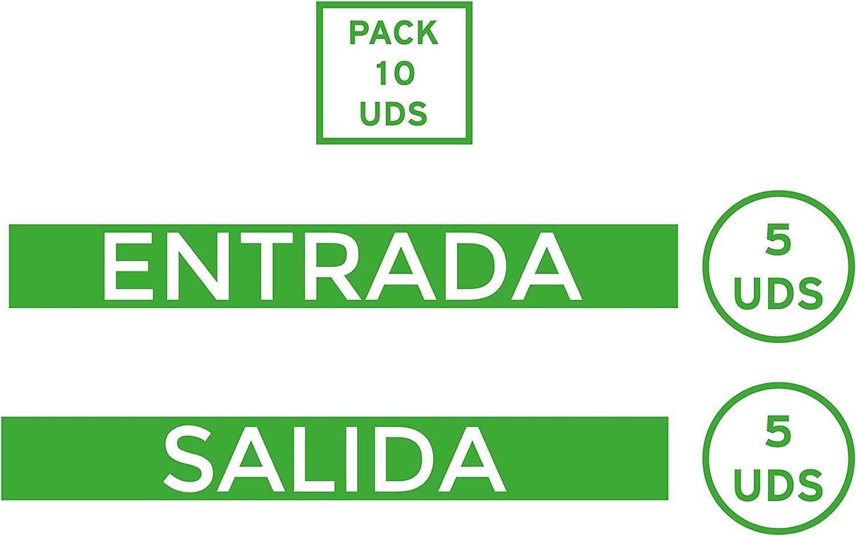 Oedim Pack 10 Vinilo Señalización para Suelo Entrada y Salida Verde | Vinilos Autoadhesivos para Decorar o Renovar Suelos: Amazon.es: Hogar