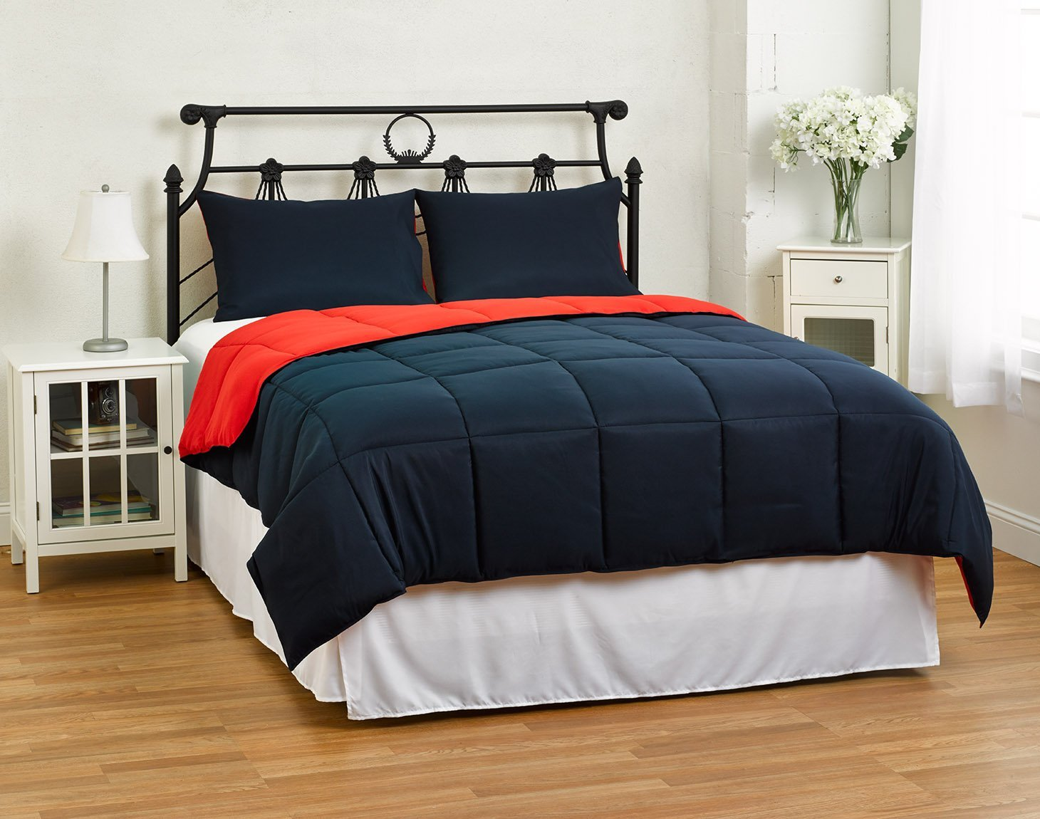 3 Piece Comforter Set, Full/Queen, Blue/Red