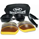 Motorcycle/Biker Glasses/Sunglasses Touring Kit Complete With 5 Sets Of Interchangeable Lenses And Storage Pouch