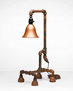 product image for Pipe Industrial Table-Top Desk Lamp Made in America (Mason Lamp)