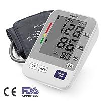 Digitales Blutdruckmessgerät, Hylogy Automatische Oberarm BP Monitor Manschette 8,7 bis 12,6 Zoll, Großbild-Display und 2 Benutzer-Modus 2 * 90 Speicher (Weiß)