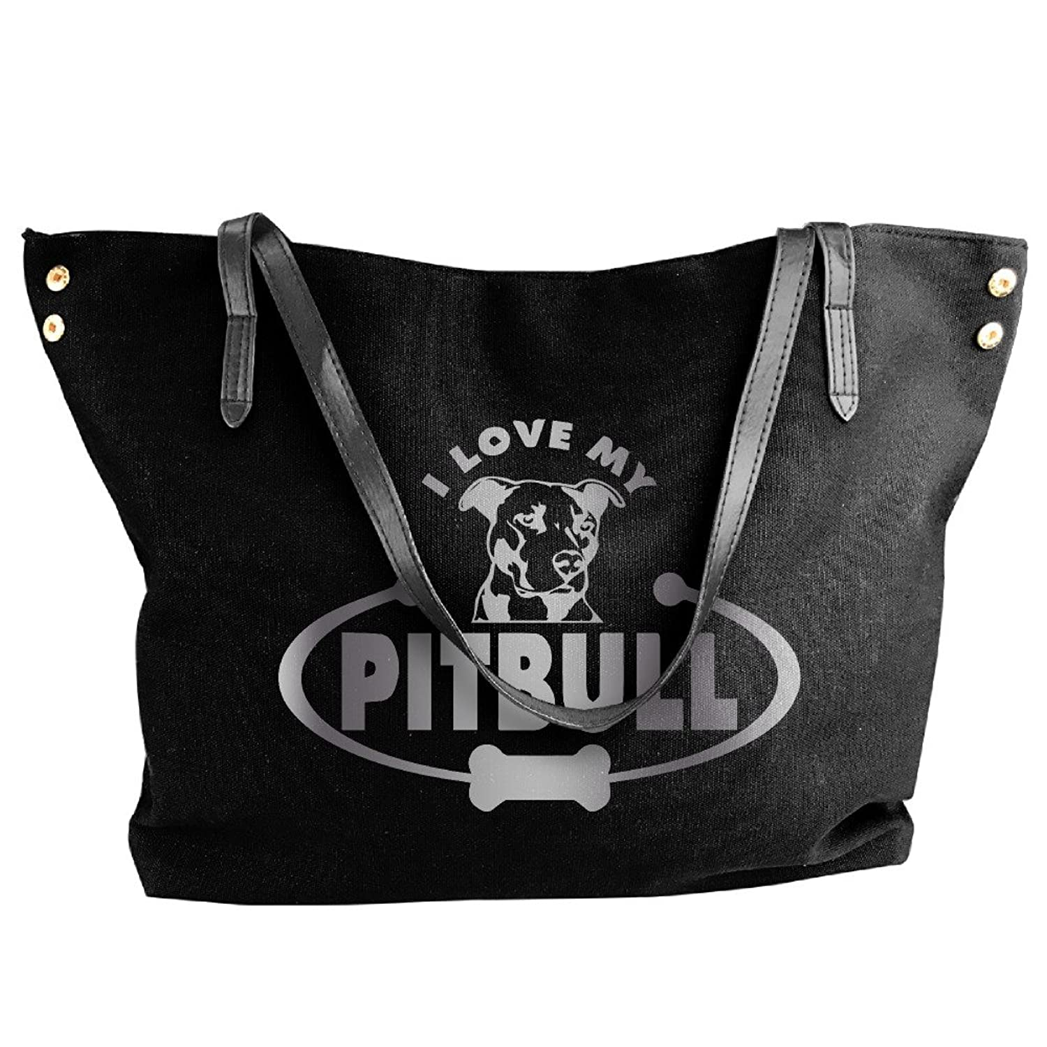 Pitbull Head Shoulder Tote Bag