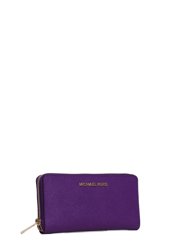 e40a4eb9d454 Amazon.com  Michael Kors Jet Set Continental Wallet in Violet  Shoes