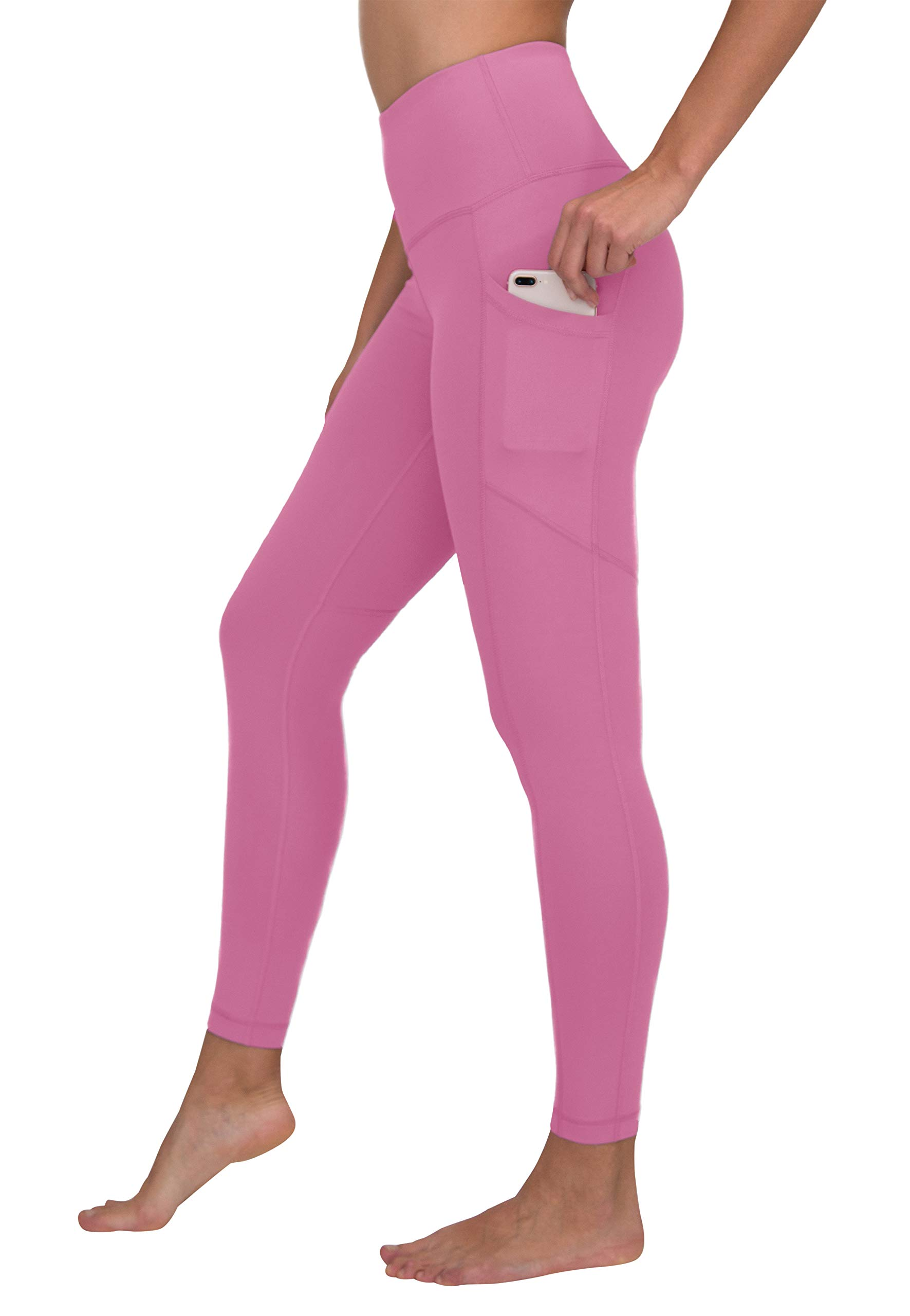90 Degree By Reflex Women's Power Flex Yoga Pants - Cuban Orchid - Medium by 90 Degree By Reflex