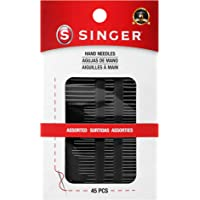 SINGER 01125 Assorted Hand Needles - Betweens, Chenille, Darners, Embroidery, Sharps & Tapestry, Assorted Sizes, 45…