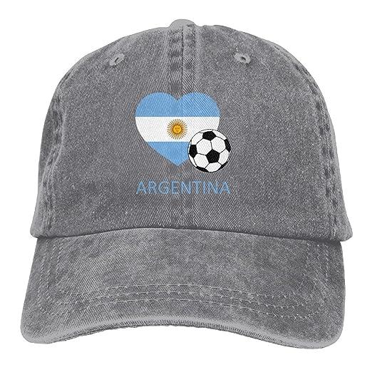 Amazon.com  Love Argentina Soccer Adult Adjustable Denim Hat Baseball Cap   Clothing d6b0f27c2f7