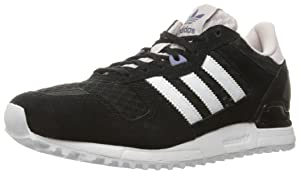 adidas Originals Women's Zx 700 W Fashion Sneaker, Black/White/Ice Purple F16, 7 M US