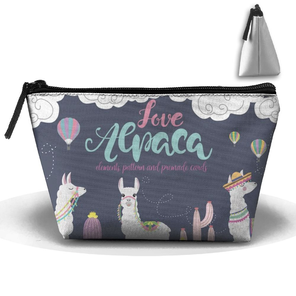 Lovely Alpacas Personalityポータブルレディース台形旅行バッグCosmetic Bag受信バッグ   B07B8BCQ32