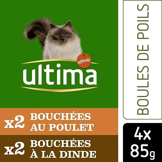 Ultima Control de Bolas de Pelo para Gatos 4 x 85 g - Pack de 10: Amazon.es: Productos para mascotas