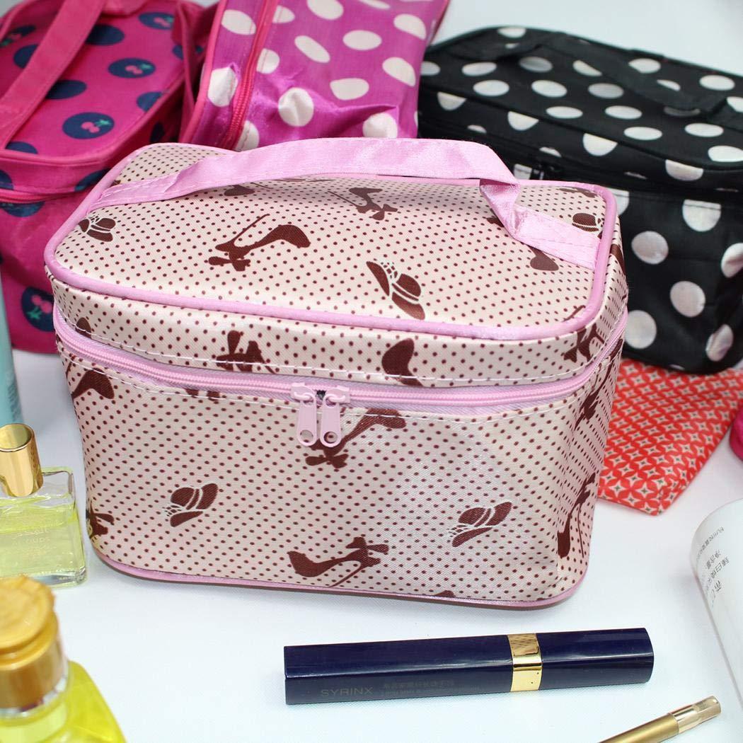 Fenido Tragbare praktische Reißverschluss-Reißverschluss-Kosmetiktasche Reisetasche Kosmetikkoffer