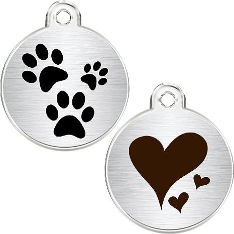 Placas de identificación para perros y gatos, redondas, de la marca Cnattags