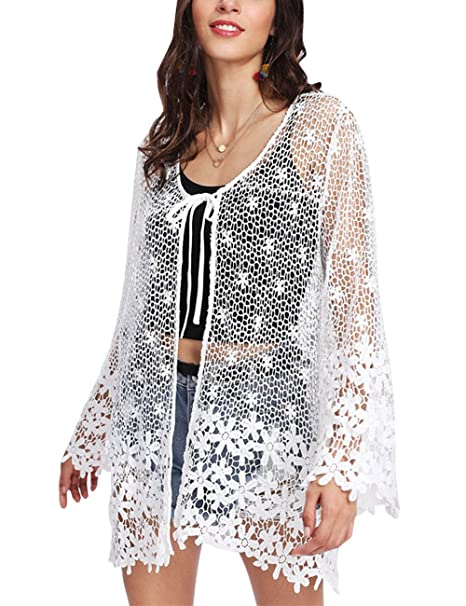 Amazon.com: yonala para mujer de encaje de ganchillo vestido ...