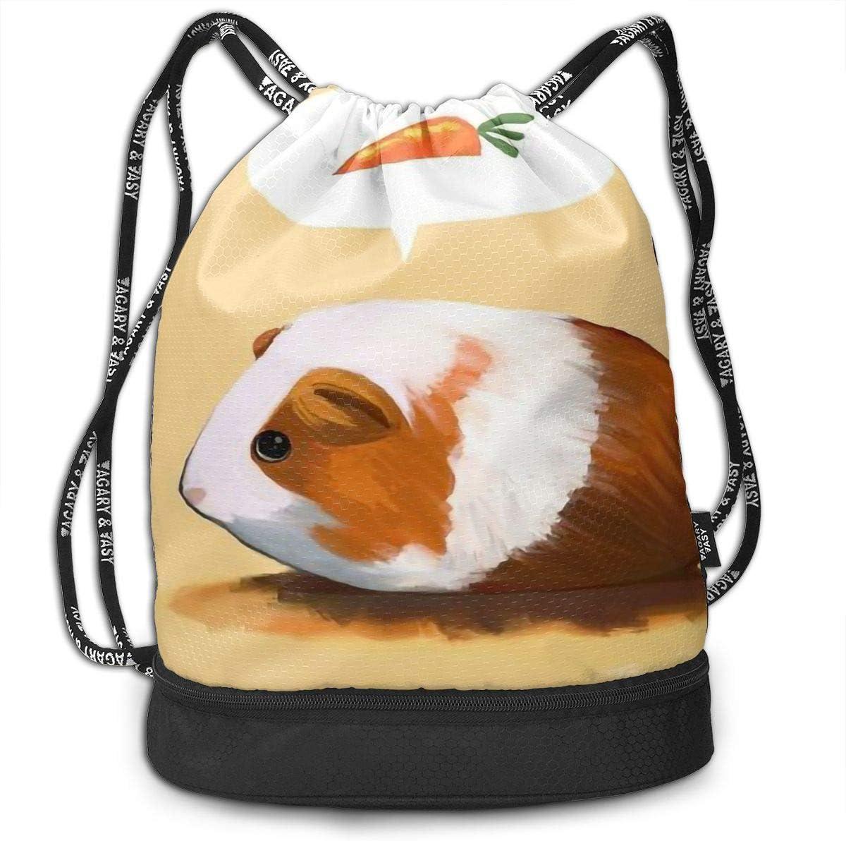 Drawstring Backpack Cute Guinea Pigs Gym Bag