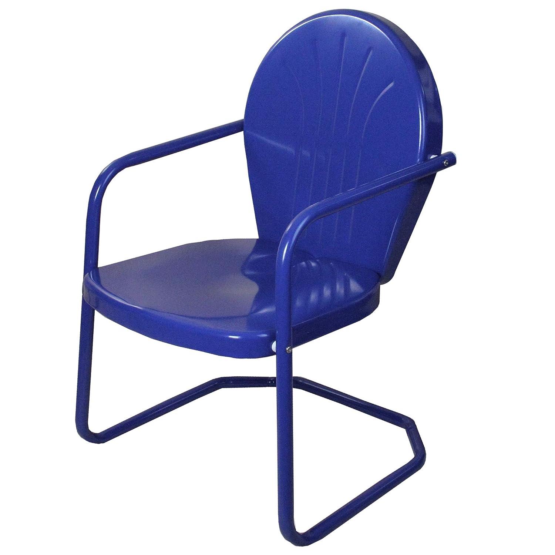 Amazon Com Lb International Outdoor Retro Metal Tulip Armchair