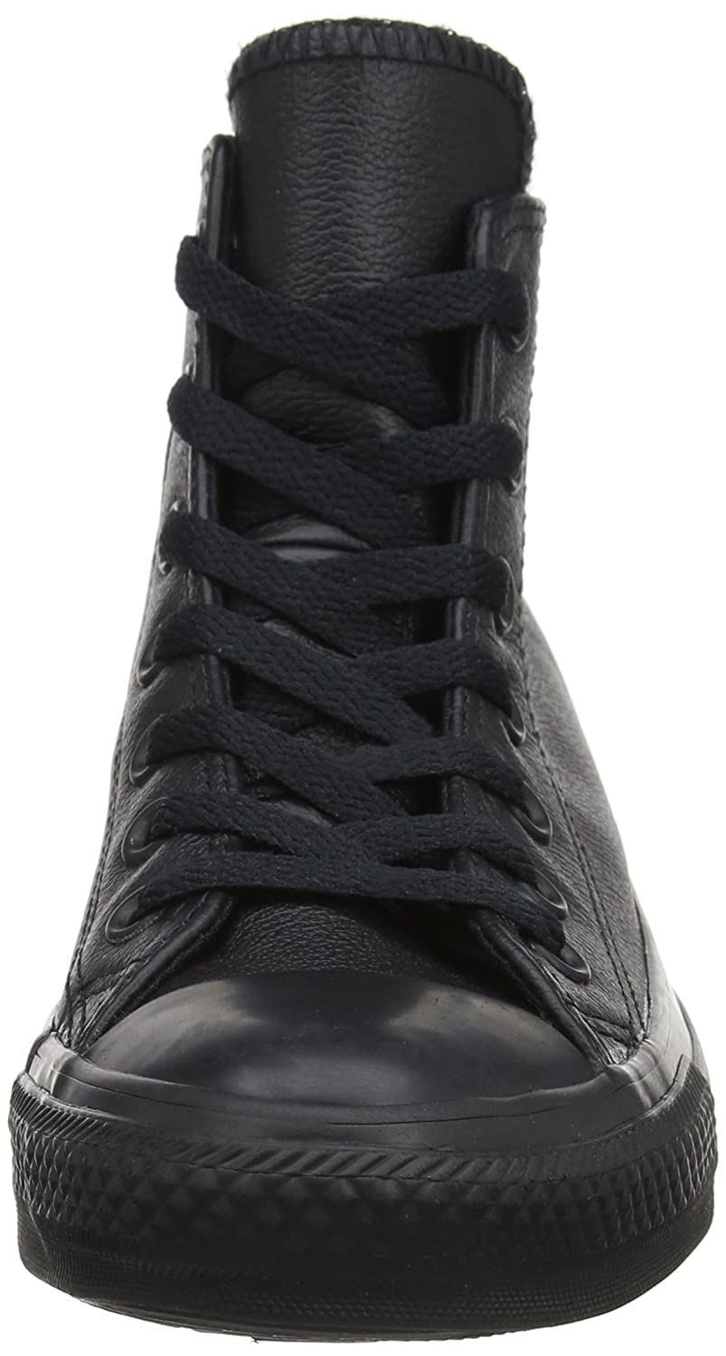 Converse Chuck Taylor All Star Leather High D(M) Top Sneaker B01CRDRTME 12 D(M) High US|Black Mono 211dc6