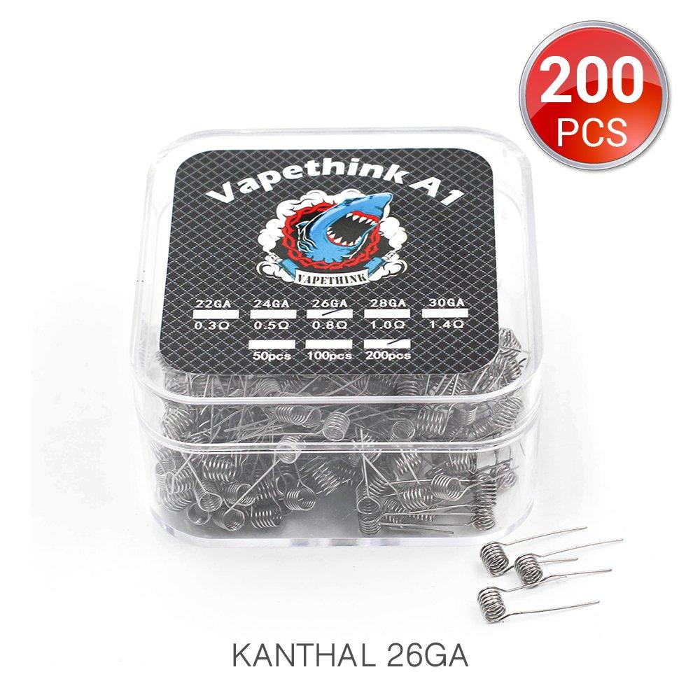 26GA + 32GA AWG 20 St/ück Clapton Coils Vorkompilierte Draht by Vapethink 0.85 ohm
