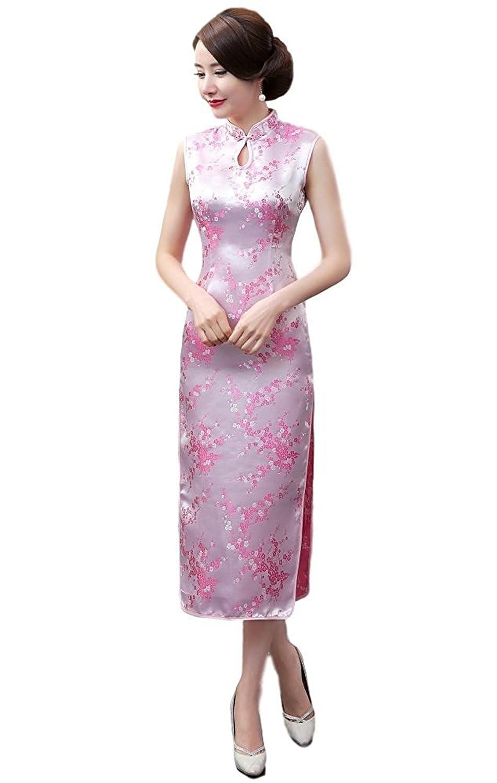 4f0cb4a15 Amazon.com: Maritchi Women's Long Chinese Wedding Dress Cheongsam Qipao  Retro Long Flower Printing: Clothing