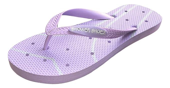 4d7a5ede9074 Shower Shoez Women s Antimicrobial Non-Slip Pool Dorm Water Sandals Flip  Flops (Small 5