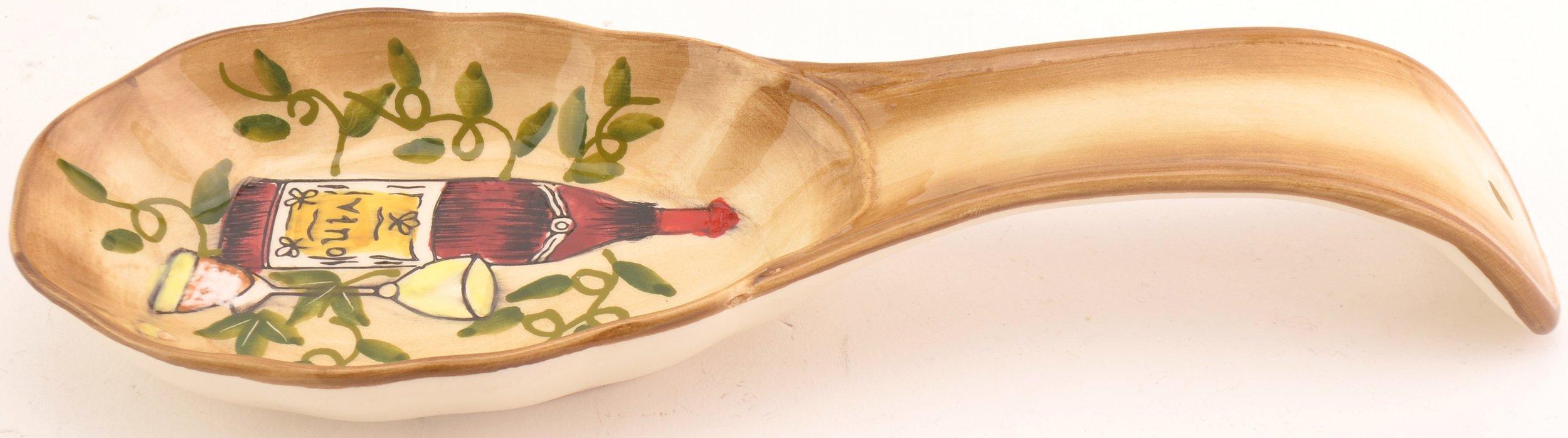 Tuscan Harvest Pattern Spoon Rest