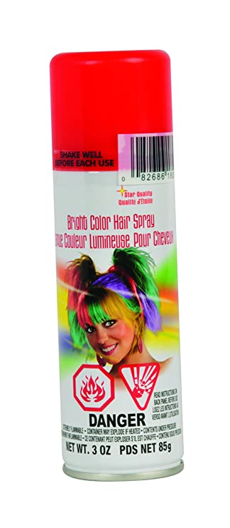 Review Rubie's Bright Color Hairspray,