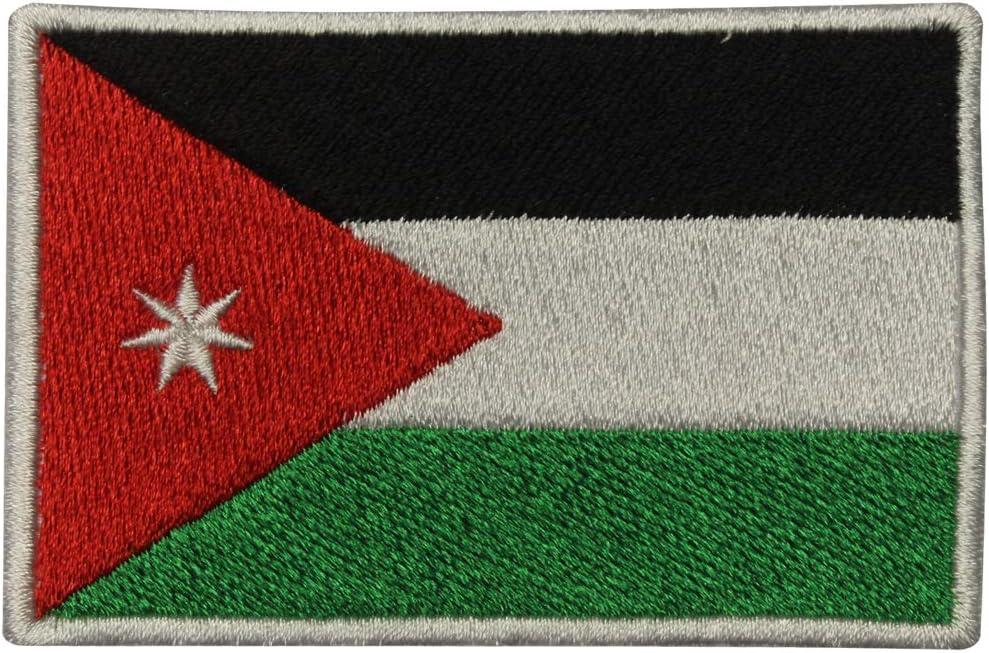 Parche Bordado con la Bandera Nacional del Imperio Real de Jordania, para Coser o Planchar, para Chaquetas, Camisetas, Sombreros: Amazon.es: Hogar