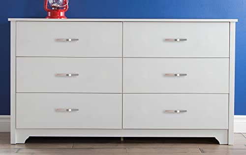 South Shore Fusion 6-Drawer Double Dresser Pure White