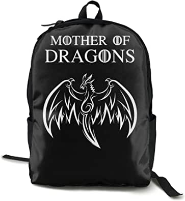 Mother Dragons Single side printed backpacks laptop backpacks campus backpacks casual backpacks specially designed for boys and girls.