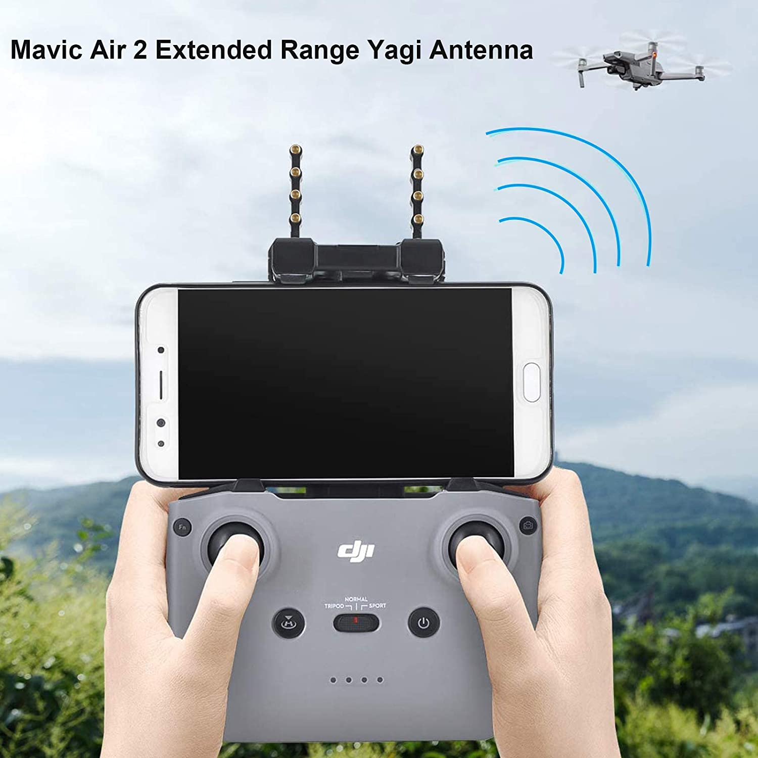 Skyreat Antenna Range Extender Yagi-UDA 5.8Ghz Signal Boosters for Mavic Air 2 Drone Specific Accessories