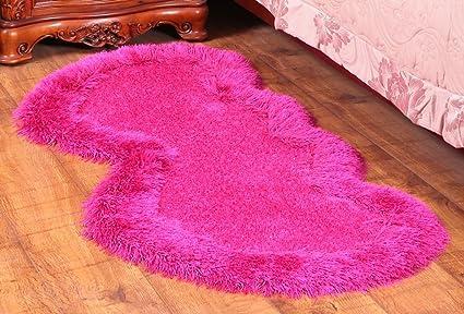 Tappeto Da Salotto Rosa : Hjhy moquette moda tappeto a forma di cuore camera da letto