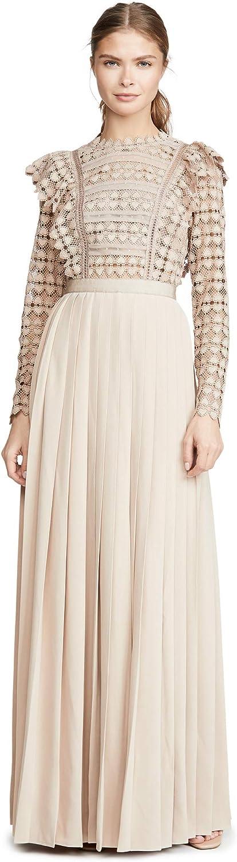 Self Portrait Womens Heart Lace Maxi Dress