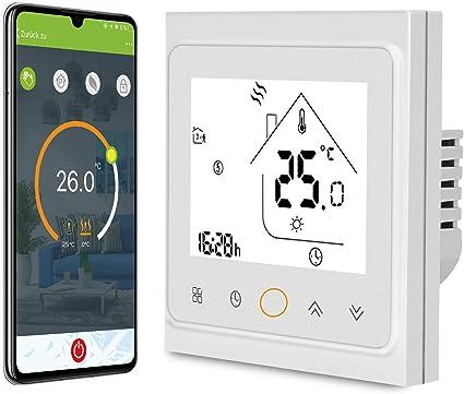 Google Assistant,APP-Fernbedienung AWOW Smart Home Set thermostat heizung,Inklusive Zigbee Heizk/örperthermostat und WIFI Gateway,f/ür alle g/ängigen Heizk/örperventile,Kompatibel mit Alexa