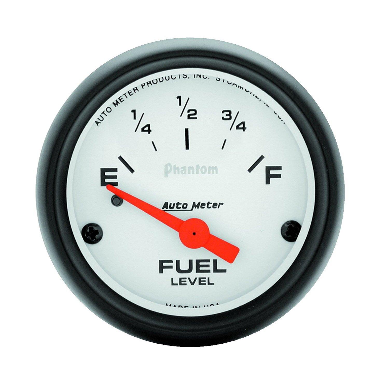 Auto Meter 5717 Phantom 2-1/16-Inch 0 E/30 F Short Sweep Electric Fuel Level Gauge for GM Pre 65
