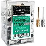 Karlash Professional Nail Sanding Bands Zebra Medium Grit File + Free 2 Mandrel