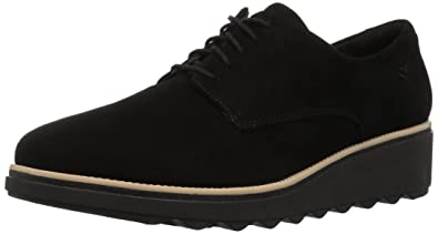 58b90a23eb8 CLARKS Women s Sharon Noel Oxford Black Nubuck 050 ...